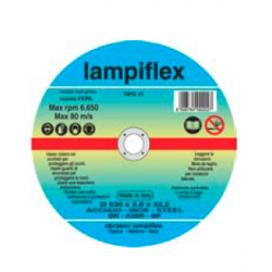 LAMPIFLEX DISCO TAGLIO FERRO Ø 230x2,0x22