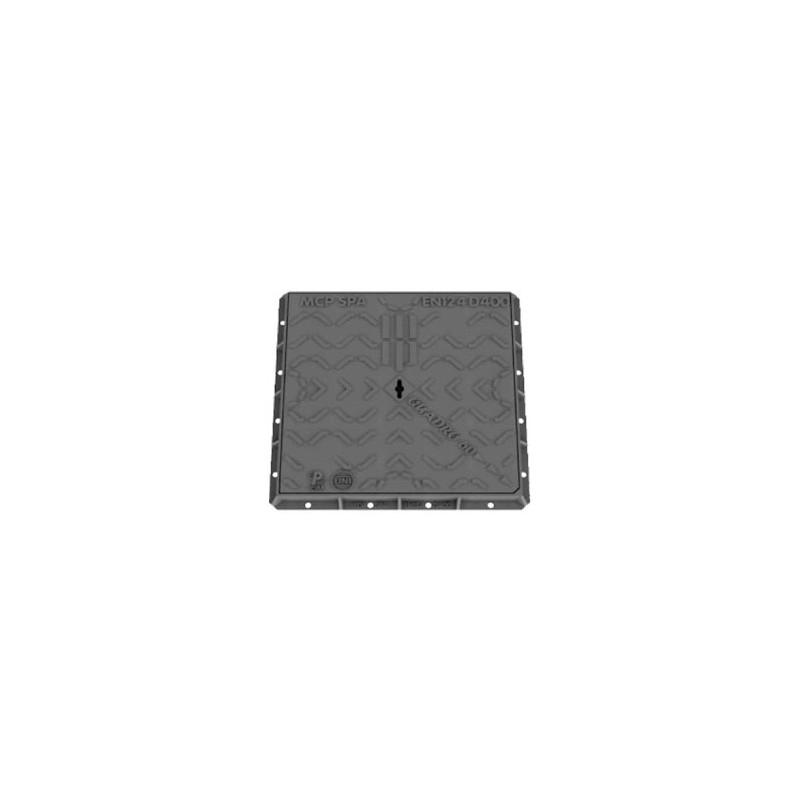 CHIUSINO IN GHISA CLASSE D400 80X80 CM