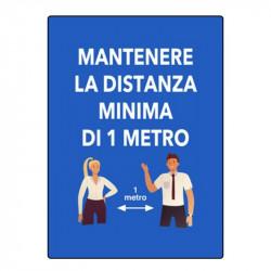 CARTELLO DISTANZA 1 METRO...